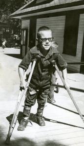 Historic Polio Camp - Child w Crutches