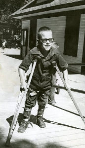 Historic Polio Camp - Child w Crutches